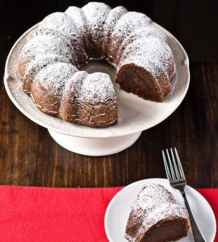 Boozy Chocolate Bourbon Bundt Cake