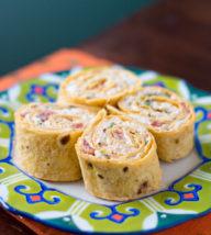 Chicken Enchilada Pinwheels