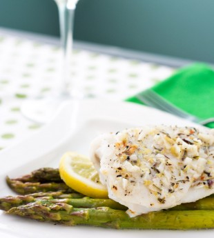 Foil Baked Fish with Lemon and Asparagus