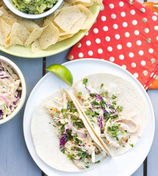 Grilled Fish Tacos with Creamy Chipotle Slaw