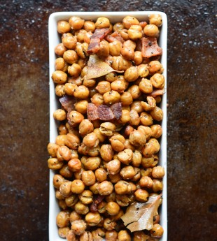 Bacon Roasted Chickpeas