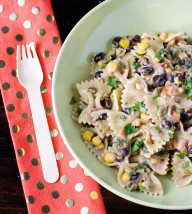 Southwest Pasta with Poblano Cream Sauce