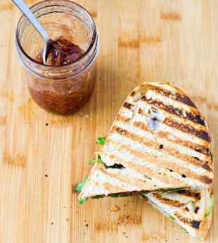 Small Batch Fig Jam + Fig Jam and Speck Panini