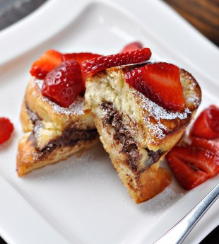 Stuffed Nutella French Toast with Strawberries