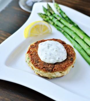 Pan-Fried Crab Cakes with Homemade Tartar Sauce