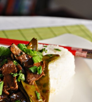 Beef, Shiitake and Snow Pea Stir-Fry