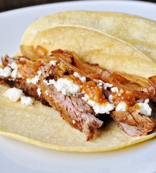 Chipotle Steak Tacos with Caramelized Onions