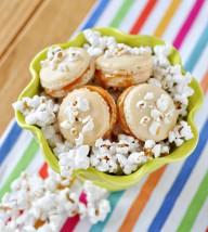 Salted Popcorn Caramel Macarons