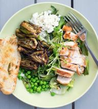 Grilled Spring Vegetable Chopped Salad