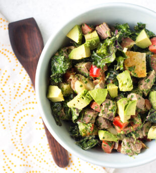 Grilled Steak and Kale Salad with Chimichurri Dressing