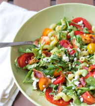 Pasta with Heirloom Tomatoes and Herb Vinaigrette