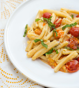 Pasta with Slow-Roasted Tomato Cream Sauce