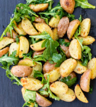 Roasted Potatoes with Arugula and Parmesan