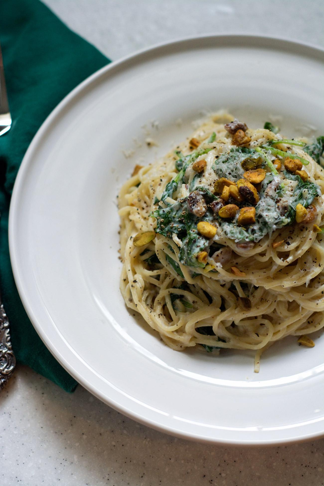 creamy ricotta kale pasta | cooklikeachampion.com